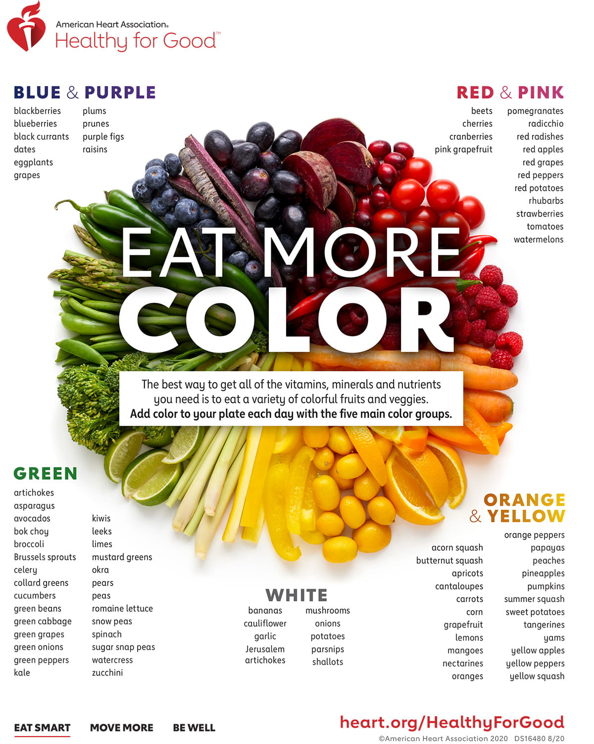 Eat More Color infographic
