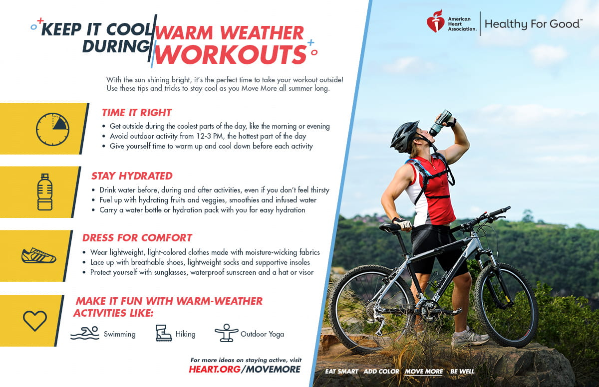 How to Keep Cool During Warm Weather Workouts
