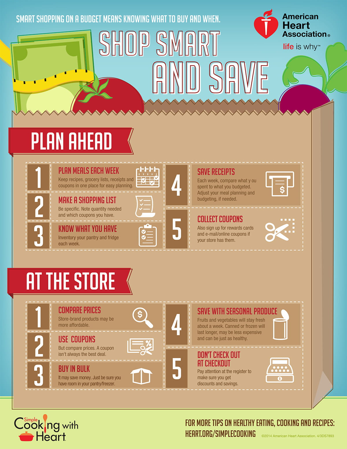 Shopping on a Budget Infographic