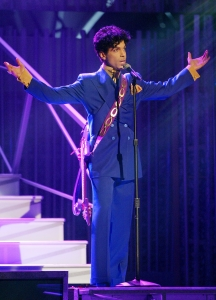 Artist Prince performs during the 46th Annual Grammy Awards held at the Staples Center on Feb. 8, 2004, in Los Angeles. (Photo by Frank Micelotta/Getty Images