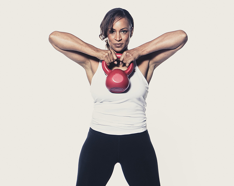 Uti Middleton lifting a kettle bell