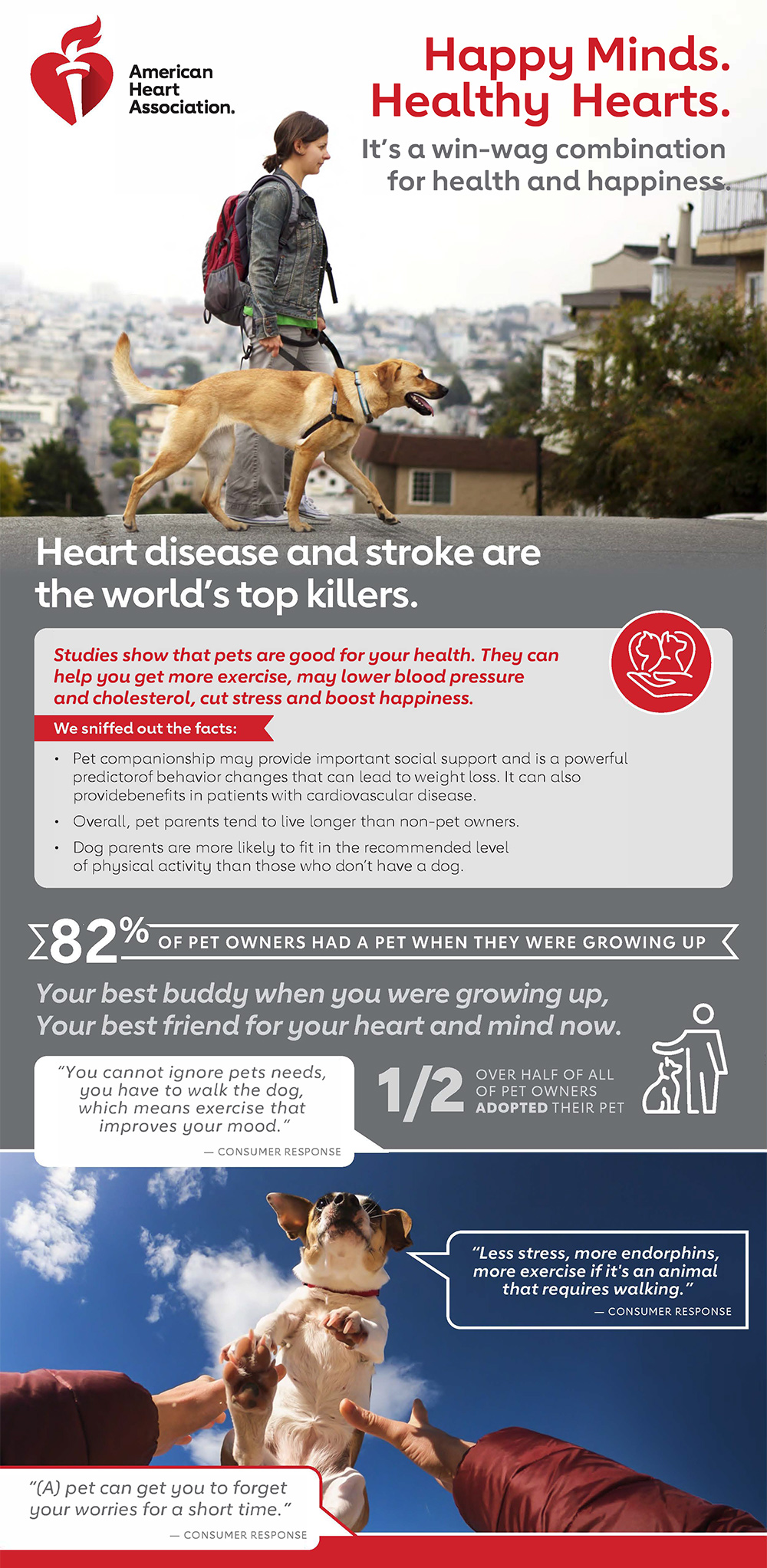 Happy Minds Healthy Hearts Infographic