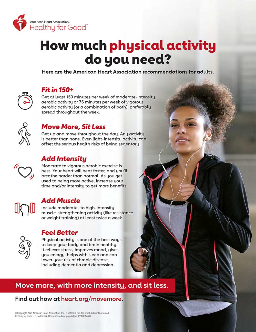 AHA Physical Activity Recommendations Infographic