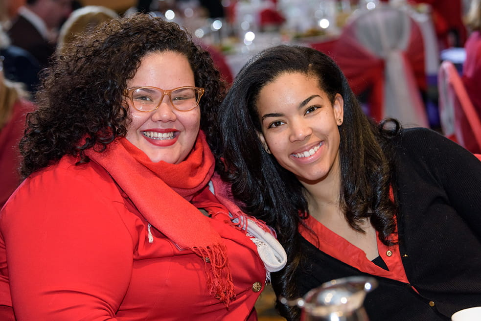 Smiling women at the Go Red Luncheon