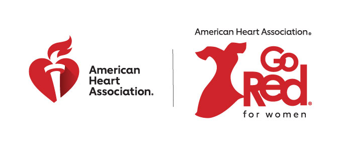 American Heart Association and Go Red for Women logo