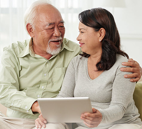 Senior couple using computer My A-Fib Experience