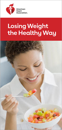 Losing weight the healthy way brochure cover