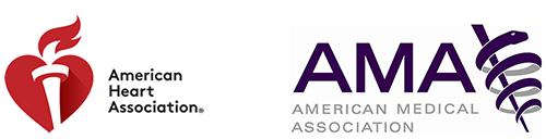 American Heart Association | American Medical Association dual logo