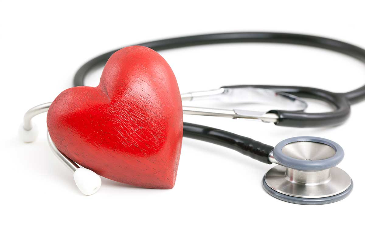stethoscope and decorative heart