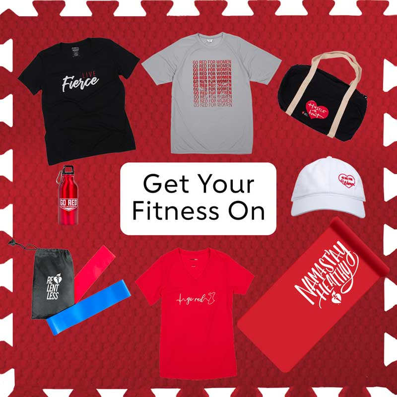 Get your fitness on ShopHeart products