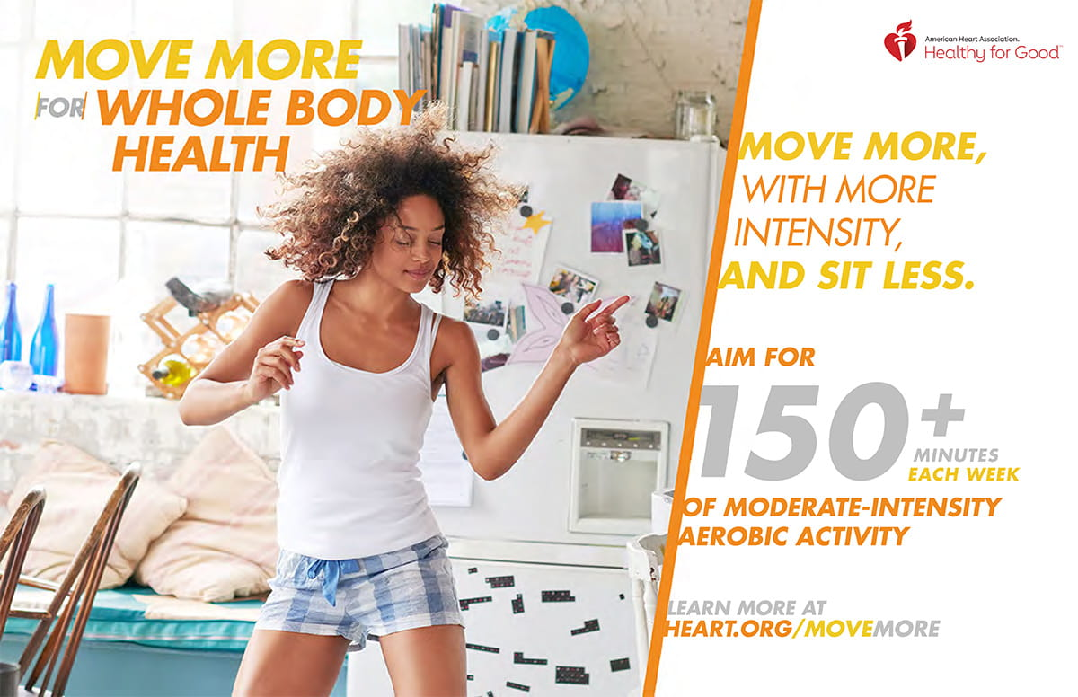 Move move for whole body health infographic