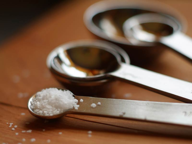 Measuring spoon with salt