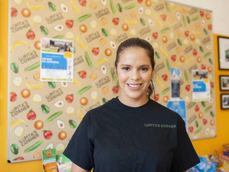 Luz Arango co-owns Lupita's Corner Market, a small LA market opened by her mother nearly 30 years ago. (Photo by Marina Quiñonez-Reda)