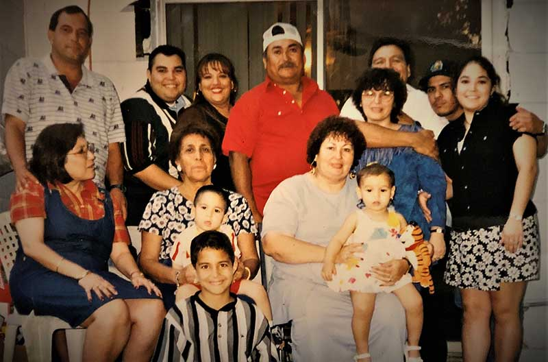 Leta Garza Rubio (seated on right) was one of the beloved matriarchs of Belinda Zuniga's family. She died after a second stroke in 2010. (Photo courtesy of Belinda Zuniga)