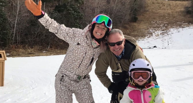 Olympic medalist Shannon Bahrke Happe, husband Matt and daughter Zoe