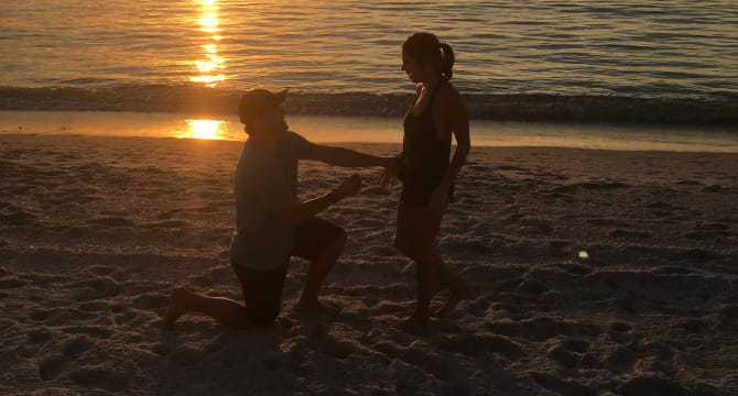 Jake Suter (left) proposed to girlfriend Keidryn Nimsgern seven months after a 911 dispatcher walked him through giving her CPR. (Photo courtesy of Keidryn Nimsgern)