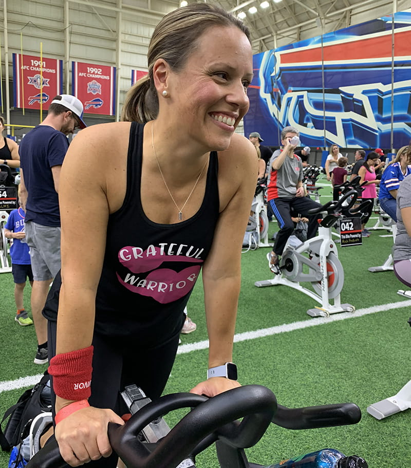 Kelly raised money for the American Stroke Association at a CycleNation event in September 2019. (Photo courtesy of Kelly Naab)