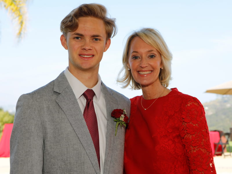 Ben Blankenhorn (left) with his mom, Kim Blankenhorn. (American Heart Association)