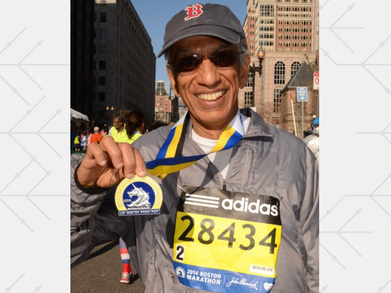 Dr. Akil Taherbhai went from heart bypass surgery to running marathons in under a year. (Photo courtesy of Dr. Akil Taherbhai)