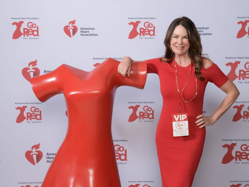Heart attack survivor Stacey Bailey at the Phoenix, Arizona 2018 Go Red for Women Luncheon. (Photo courtesy of Stacey Bailey)