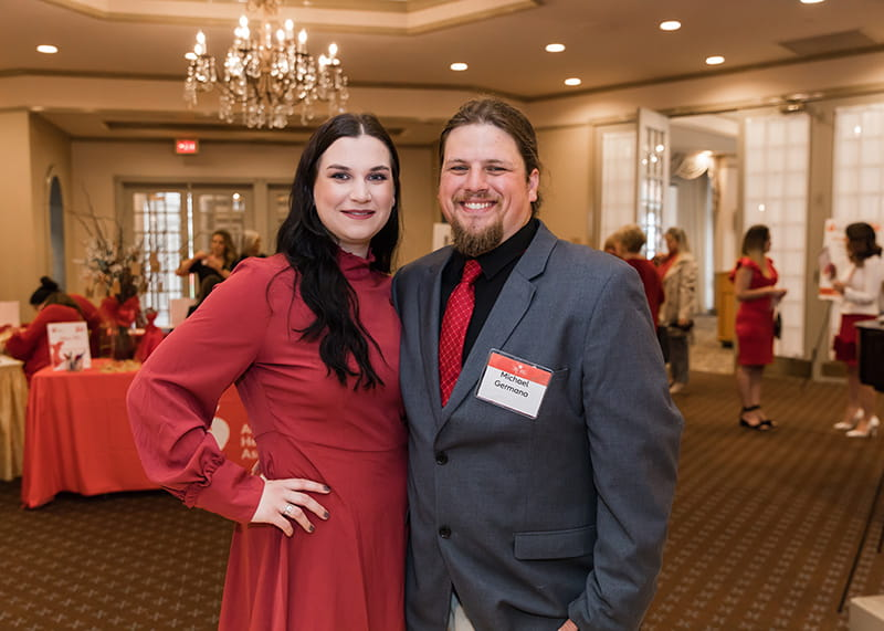 Vicky King and fiancé Mike Germano attending the Southern NJ Go Red for Women Luncheon in Voorhees, NJ in April 2019. (Photo courtesy of Shotwell Productions)