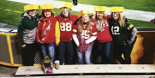 Leah Huss cheering on the Kansas City Chiefs. (Photo courtesy of Leah Huss)