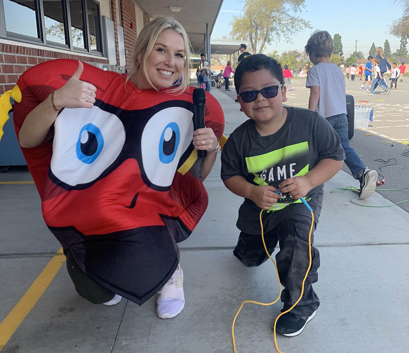 Frankie Saldivar participated in the American Heart Association's Kids Heart Challenge and was a top fundraiser for 2020. (Photo courtesy of Audra VomSteeg)