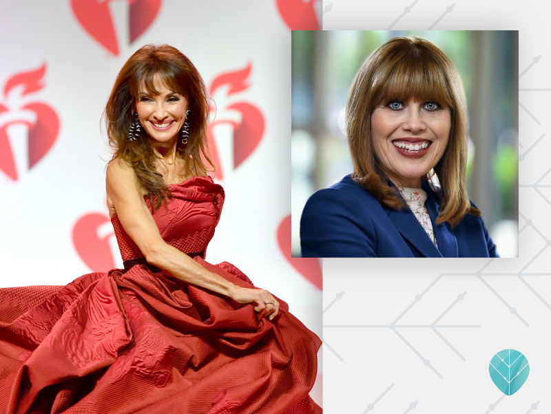 Susan Lucci walks the runway for The American Heart Association's Go Red For Women Red Dress Collection 2019, February 7. (Photo by Slaven Vlasic/Getty Images for AHA)
