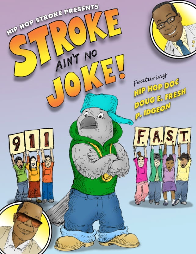 Cover of a comic book promoting Hip Hop Stroke.