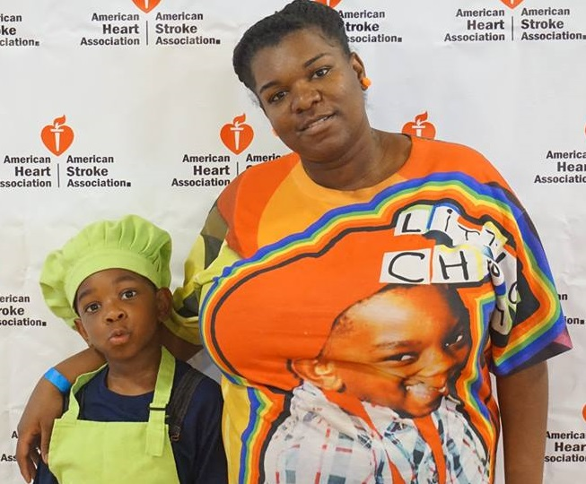 After losing her mother at a young age, DJ Little Chef's mother, Tiarra Lewis (right)  encourages her son to prepare and eat healthy foods.  (Photo courtesy of DJ Little Chef)