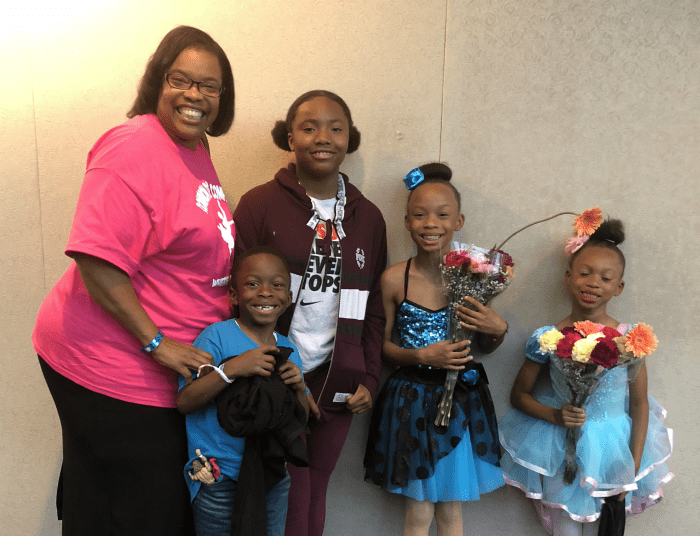 Michelle Davenport with the four grandchildren she adopted. (Photo courtesy of Michelle Davenport)