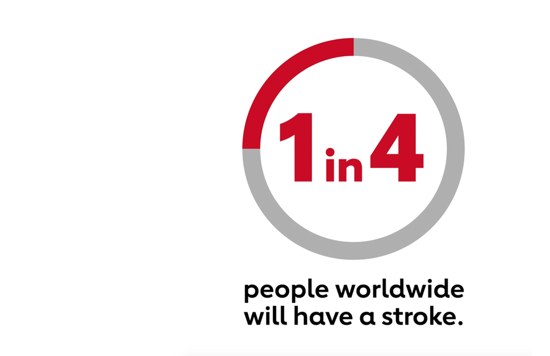 1 in 4 people worldwide will have a stroke