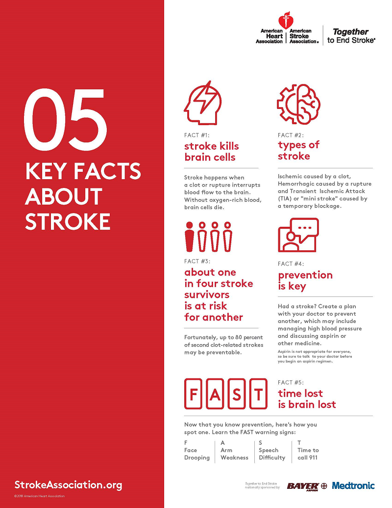 5 Key Facts about Stroke Infographic