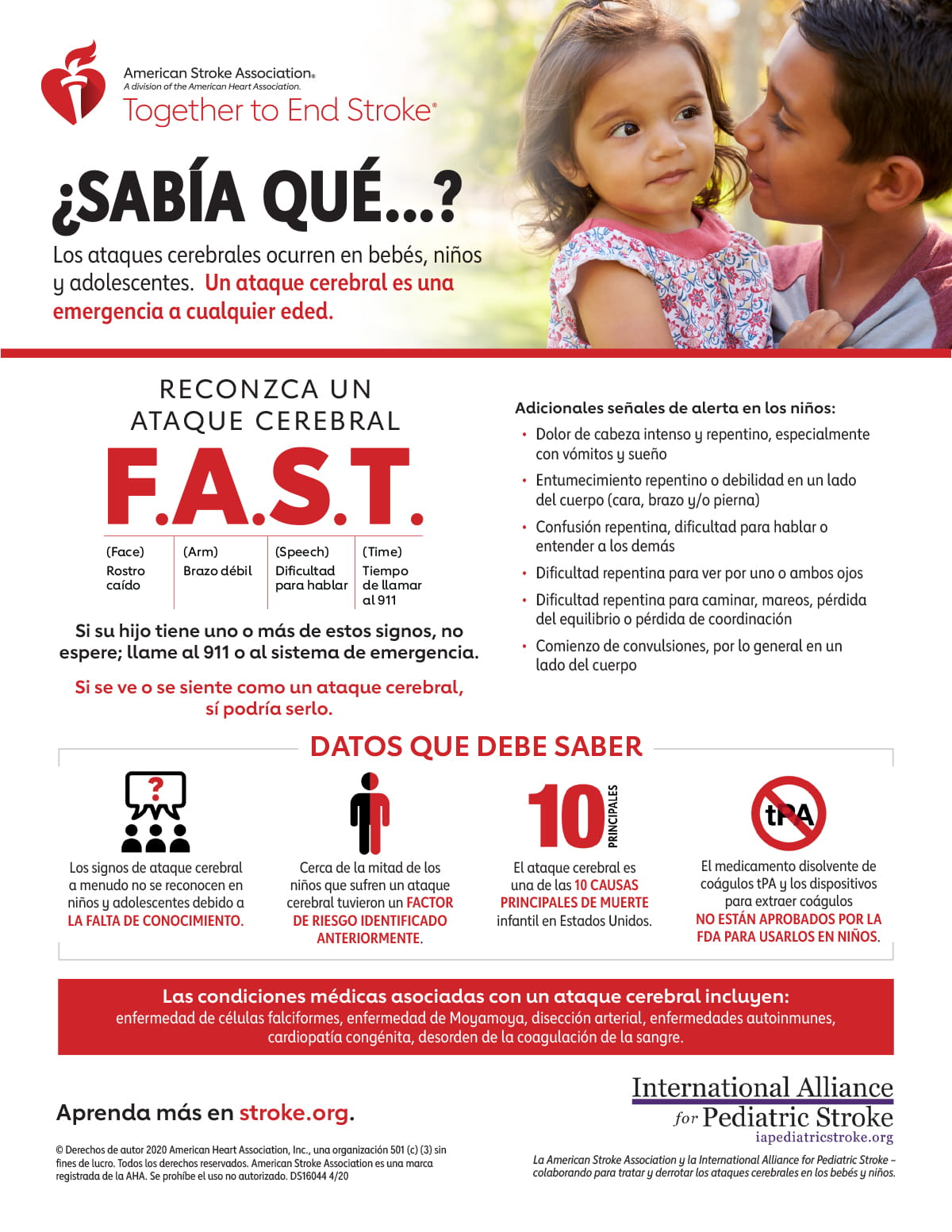 Pediatric Stroke Infographic in Spanish