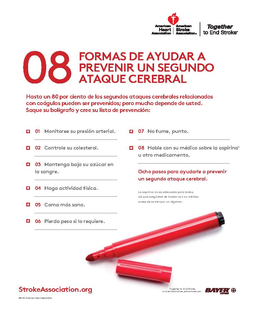 Secondary Prevention Checklist in Spanish