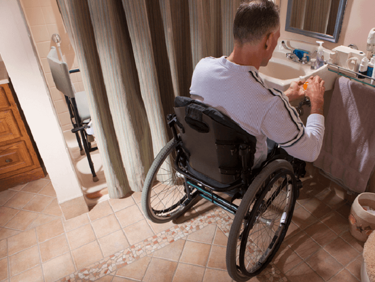 bathroom modifications for stroke survivors
