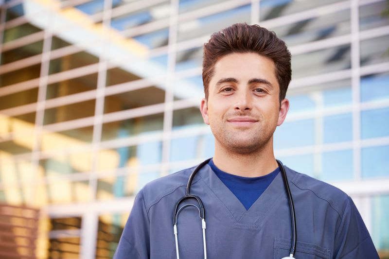 young male healthcare worker