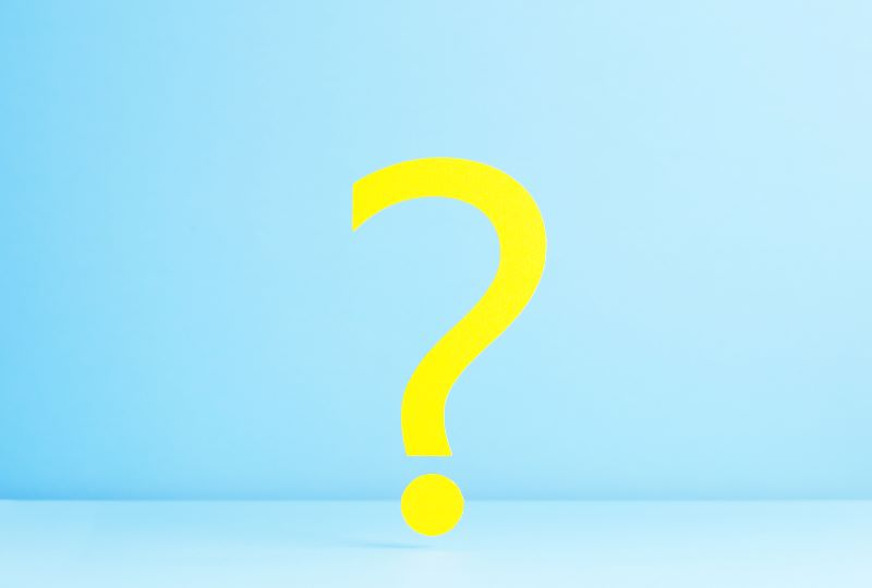 Question Mark on a blue background